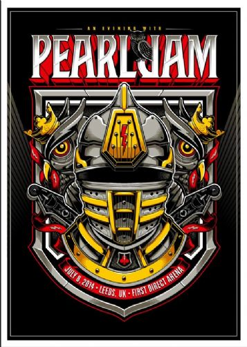 PEARL JAM - LIVE @ LEEDS canvas print - self adhesive poster - photo print